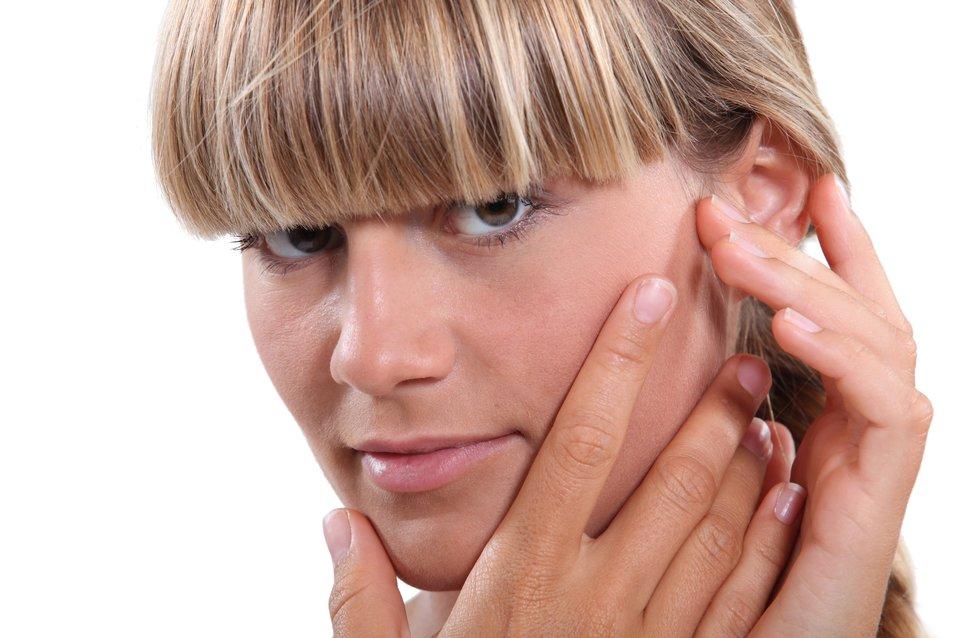 Woman with earache
